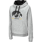 Colosseum Women's Iowa Hawkeyes Grey Lily Funnel Neck Pullover Hoodie