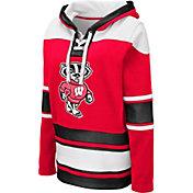 Colosseum Women's Wisconsin Badgers Red Choo Hockey Pullover Hoodie