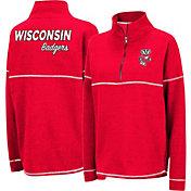 Colosseum Women's Wisconsin Badgers Red Horsetail Half-Zip Shirt