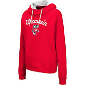 Colosseum Women's Wisconsin Badgers Red Louise Pullover Sweatshirt