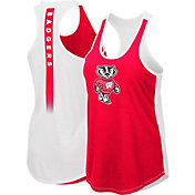 Colosseum Women's Wisconsin Badgers Red/White Publicist Tank Top