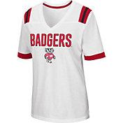 Colosseum Women's Wisconsin Badgers Lowland White T-Shirt