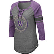 Colosseum Women's Washington Huskies Grey Carrie Long Sleeve T-Shirt