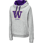 Colosseum Women's Washington Huskies Grey Lily Funnel Neck Pullover Hoodie