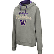 Colosseum Women's Washington Huskies Grey Studio Funnel Pullover Hoodie