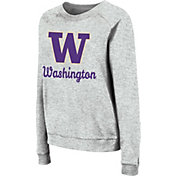 Colosseum Women's Washington Huskies Grey Tiger Pullover Sweatshirt