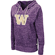 Colosseum Women's Washington Huskies Purple Bradshaw Pullover Hoodie