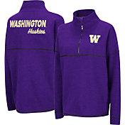 Colosseum Women's Washington Huskies Purple Horsetail Half-Zip Shirt