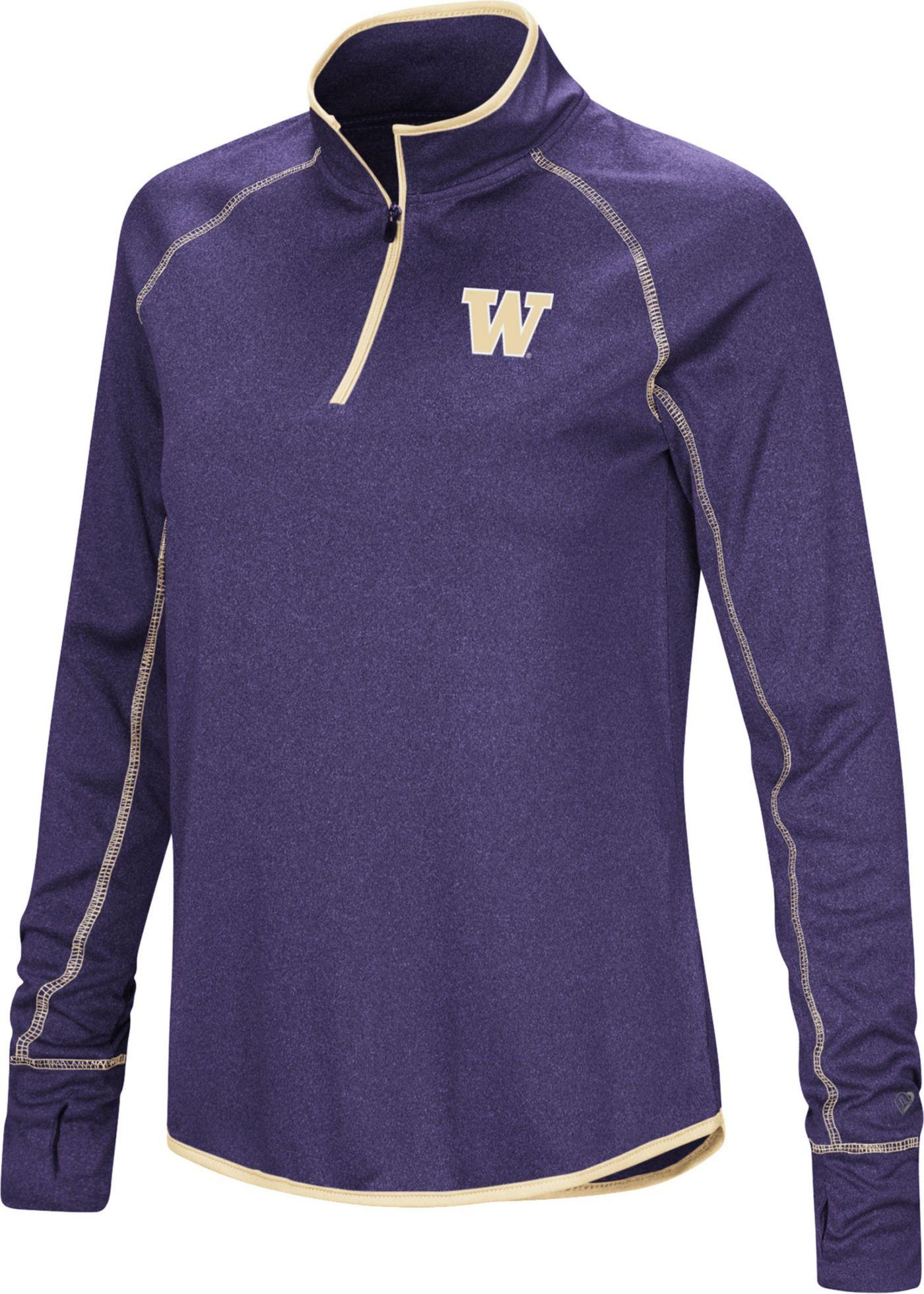 Colosseum Women's Washington Huskies Purple Stingray Quarter-Zip Shirt