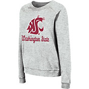 Colosseum Women's Washington State Cougars Grey Tiger Pullover Sweatshirt