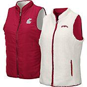 Colosseum Women's Washington State Cougars Crimson Blatch Reversible Full-Zip Vest