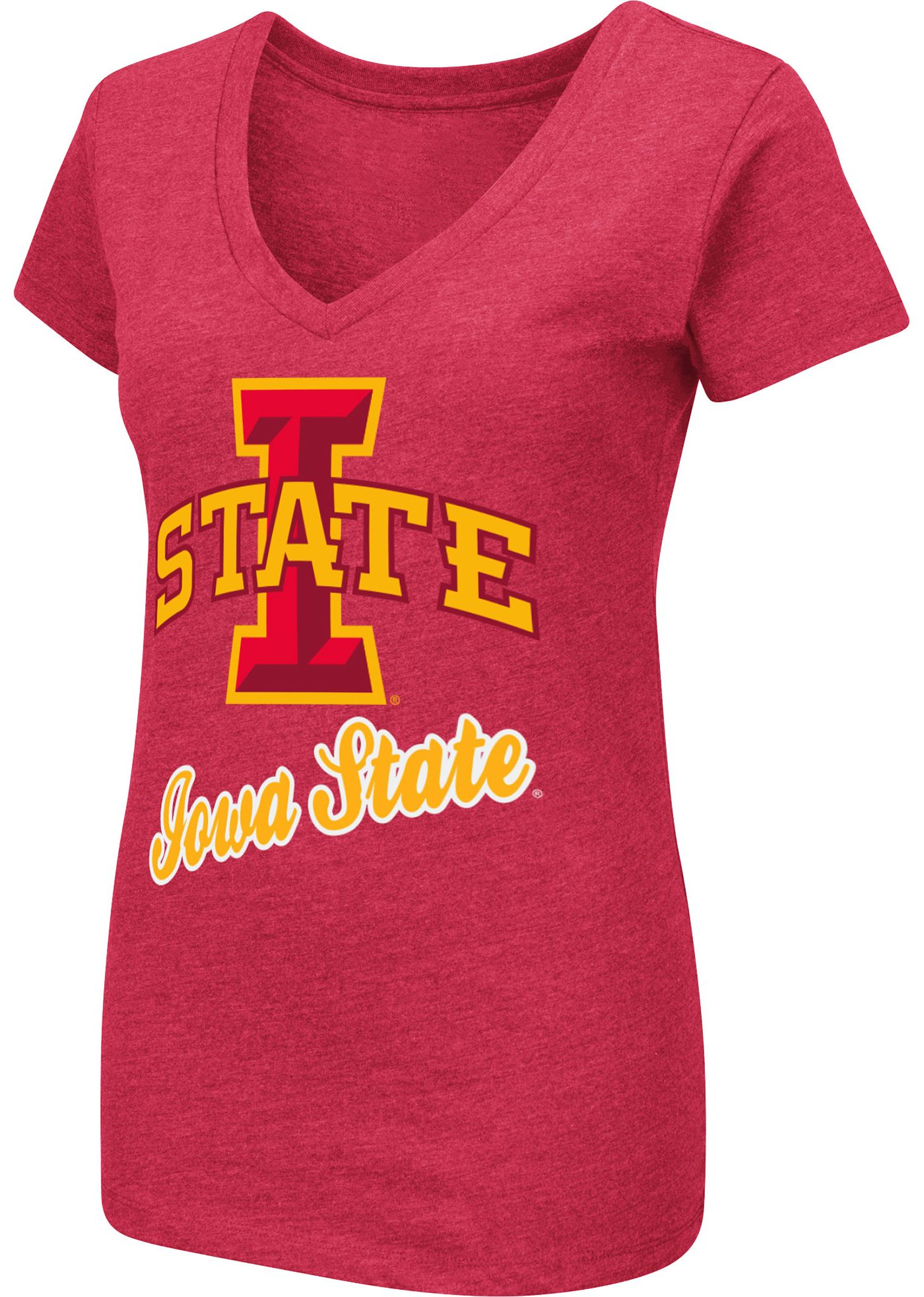 Colosseum Women's Iowa State Cyclones Cardinal Dual Blend V-Neck T-Shirt