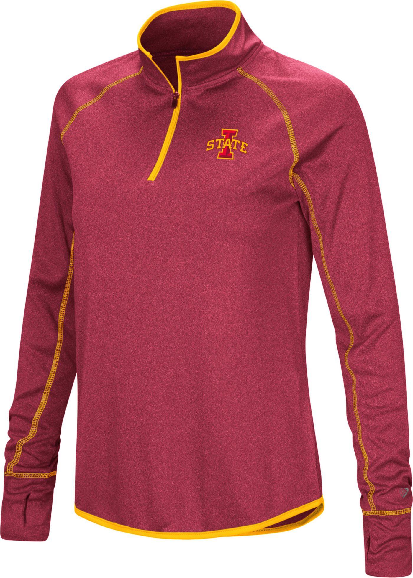 Colosseum Women's Iowa State Cyclones Cardinal Stingray Quarter-Zip Shirt