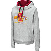 Colosseum Women's Iowa State Cyclones Grey Lily Funnel Neck Pullover Hoodie