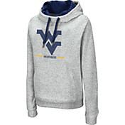 Colosseum Women's West Virginia Mountaineers Grey Lily Funnel Neck Pullover Hoodie