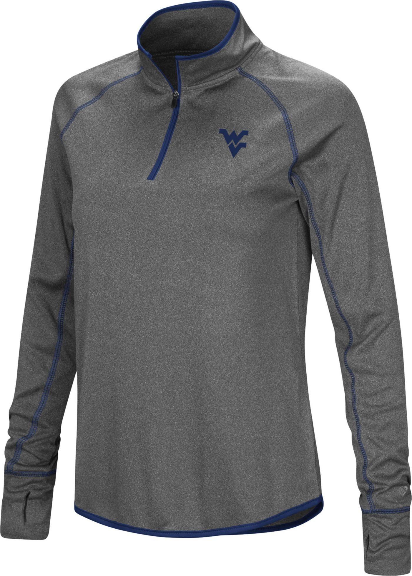 Colosseum Women's West Virginia Mountaineers Grey Stingray Quarter-Zip Shirt