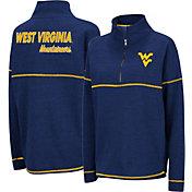 Colosseum Women's West Virginia Mountaineers Blue Horsetail Half-Zip Shirt