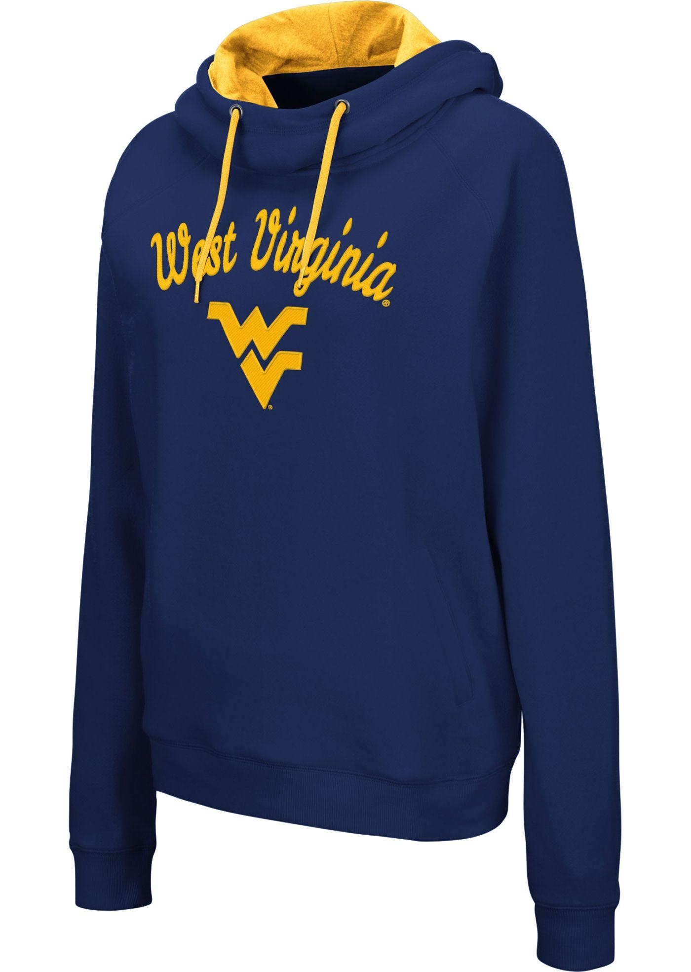 Colosseum Women's West Virginia Mountaineers Blue Louise Pullover Sweatshirt