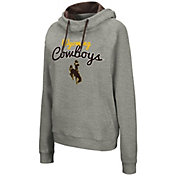 Colosseum Women's Wyoming Cowboys Grey Studio Funnel Pullover Hoodie