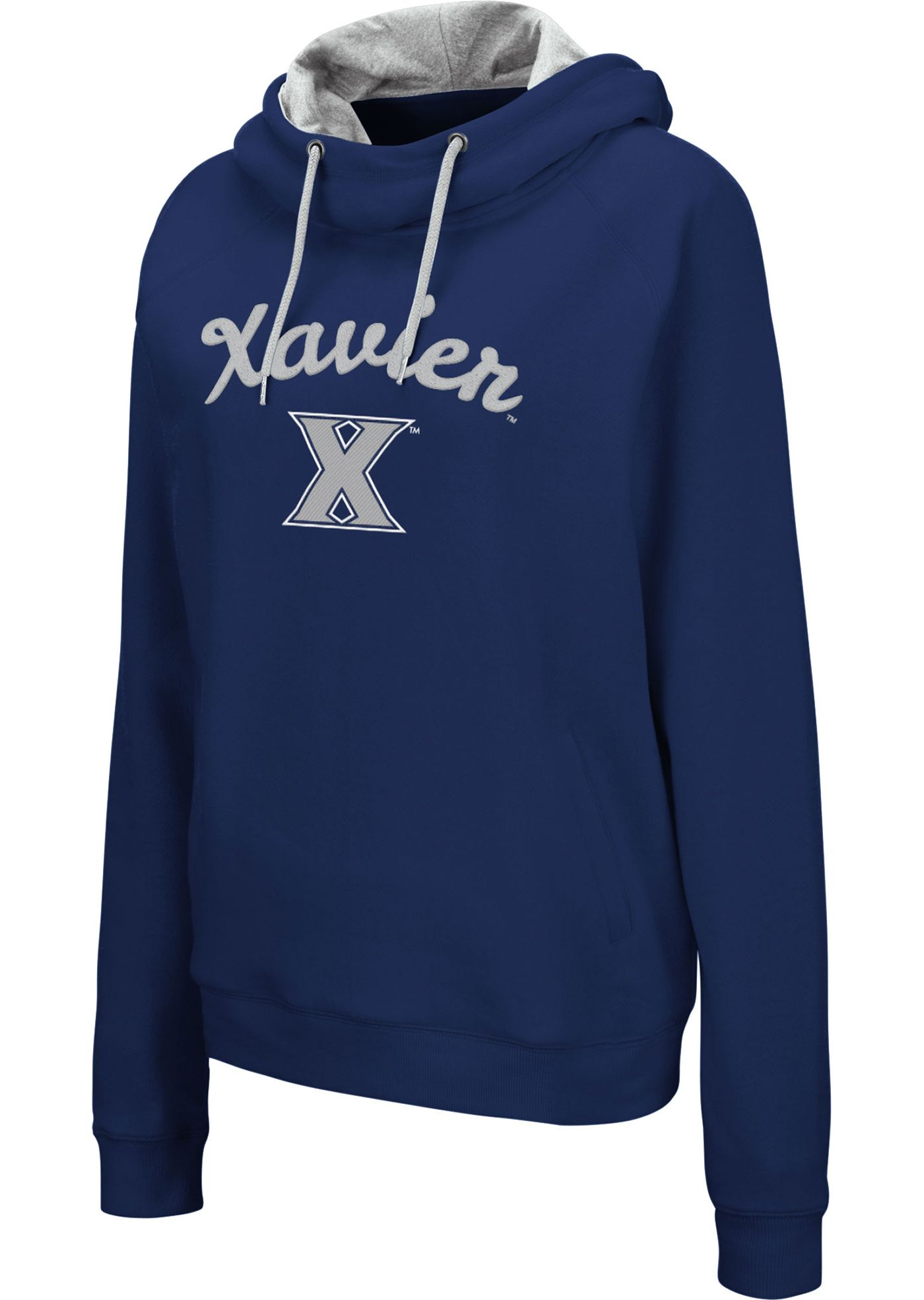 Colosseum Women's Xavier Musketeers Blue Louise Pullover Sweatshirt