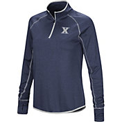 Colosseum Women's Xavier Musketeers Blue Stingray Quarter-Zip Shirt