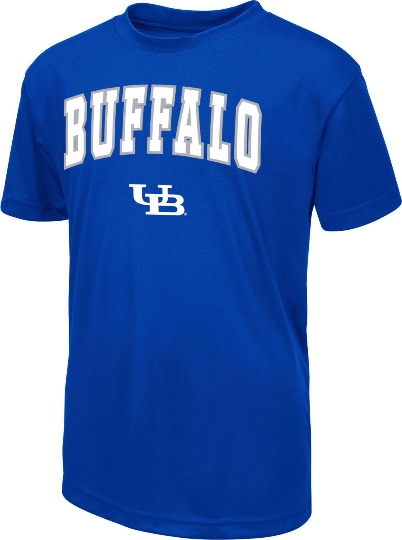 Colosseum Youth Buffalo Bulls Blue Dual Blend T-Shirt