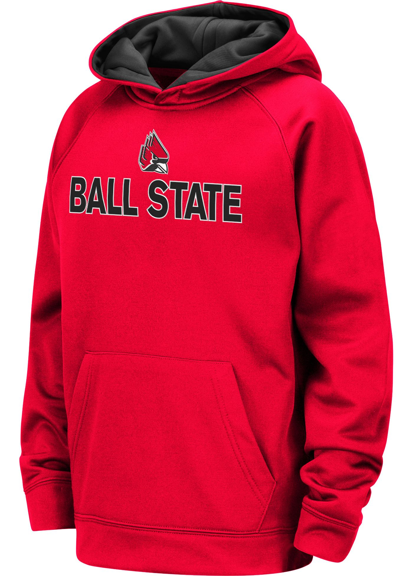 Colosseum Youth Ball State Cardinals Cardinal Pullover Hoodie
