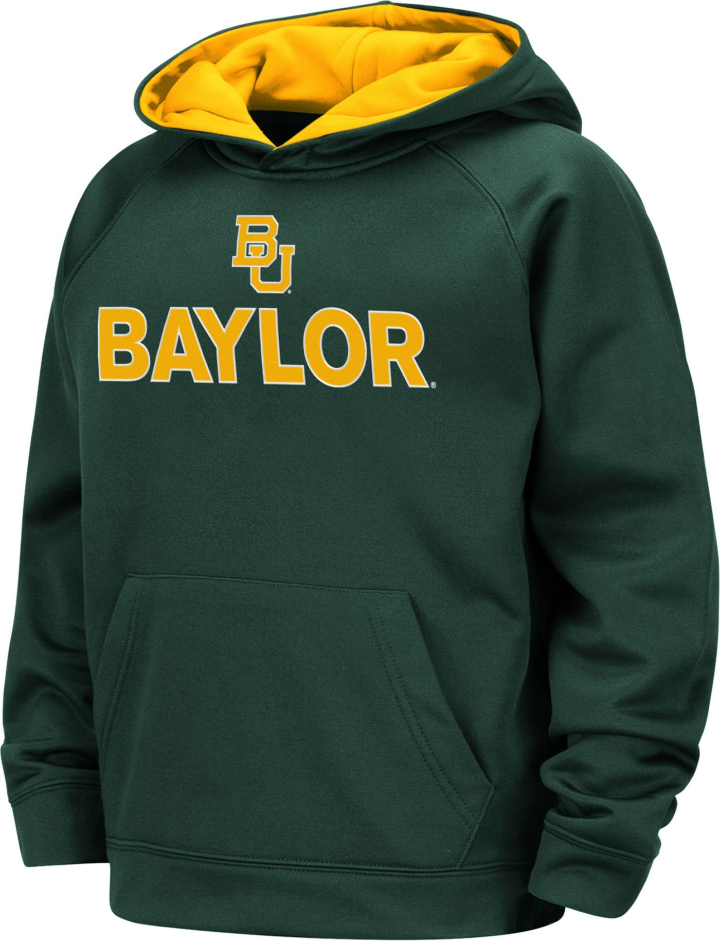 Colosseum Boys' Baylor Bears Green Pullover Hoodie