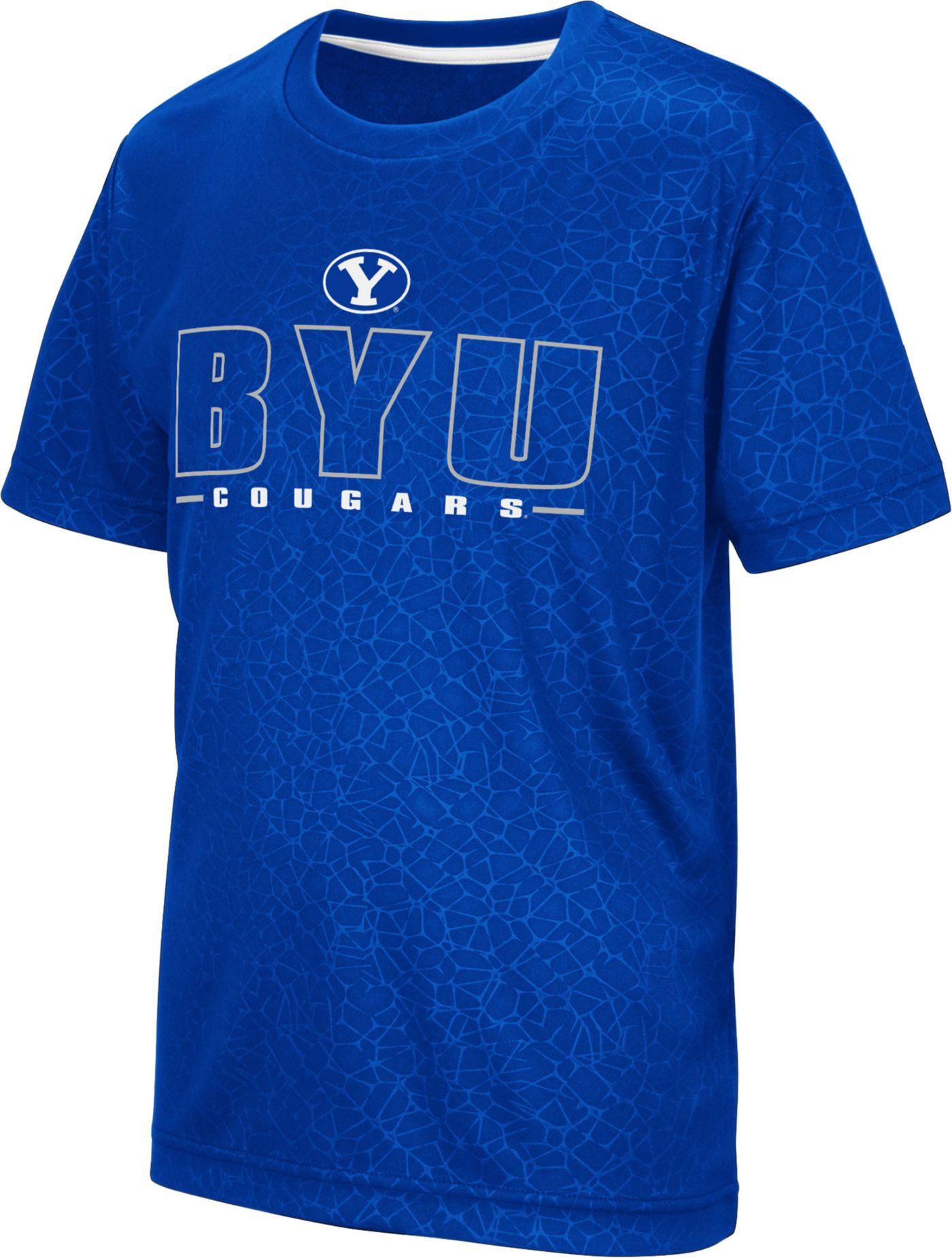 Colosseum Youth BYU Cougars Blue Geoweb T-Shirt