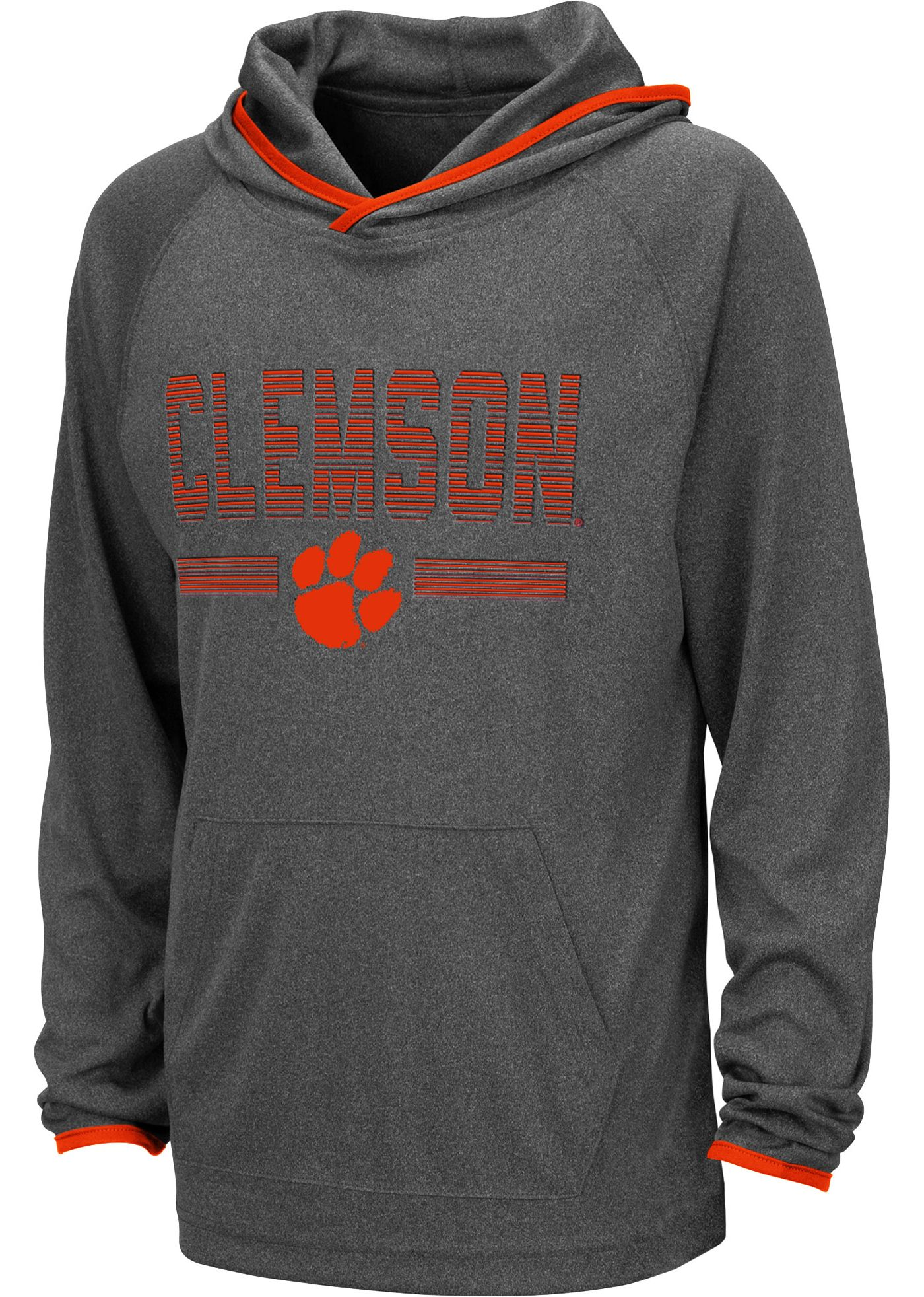 Colosseum Youth Clemson Tigers Grey Narf! Pullover Hoodie