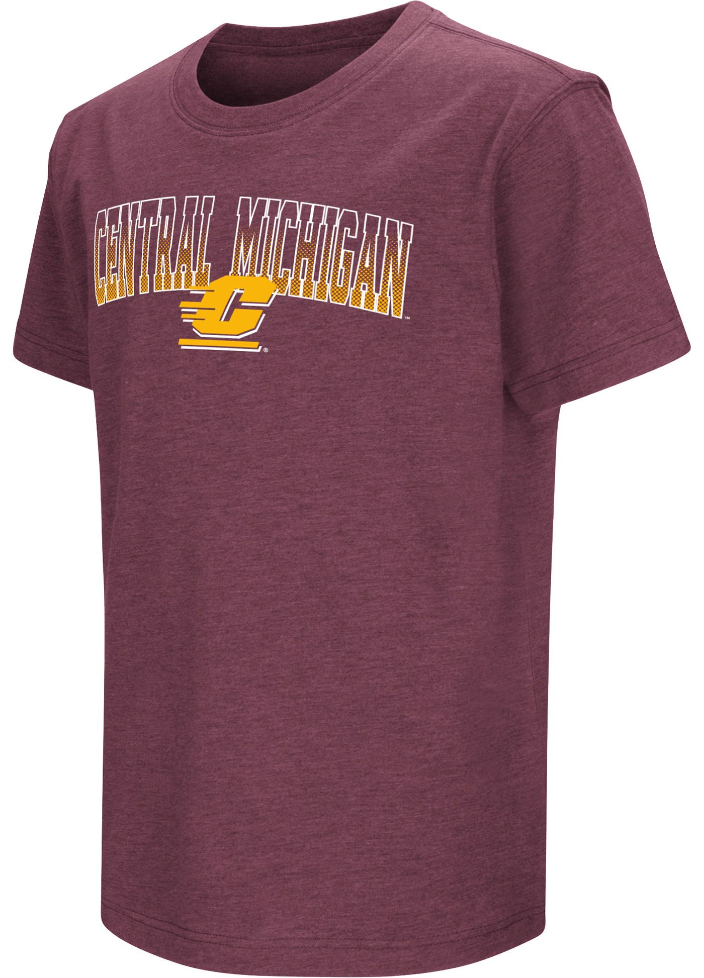 Colosseum Youth Central Michigan Chippewas Maroon Dual Blend T-Shirt