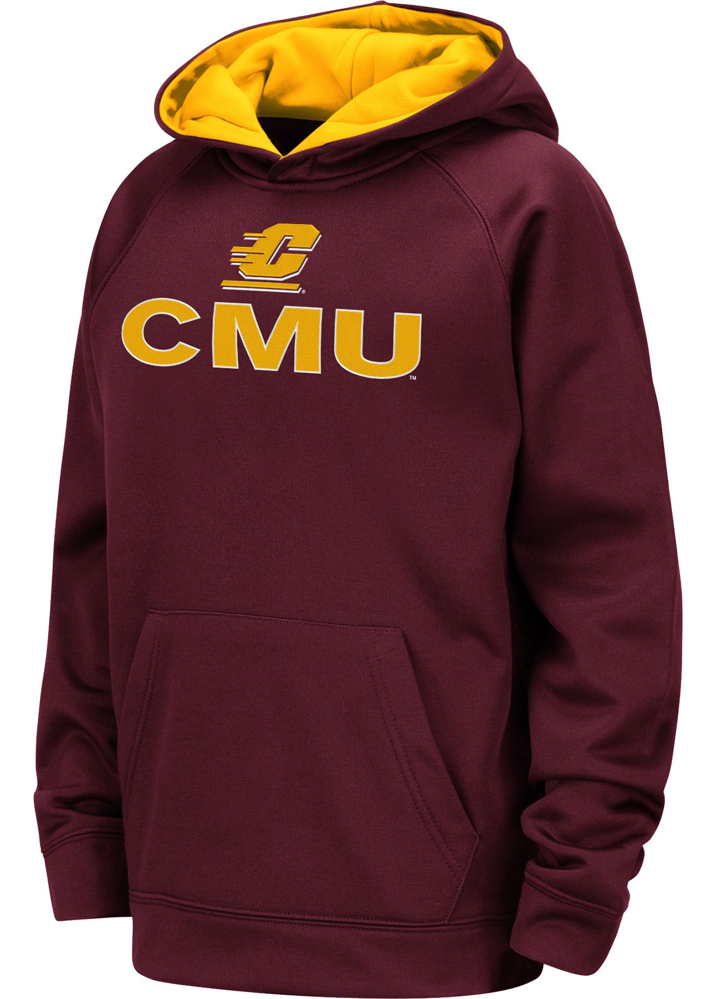 Colosseum Youth Central Michigan Chippewas Maroon Pullover Hoodie