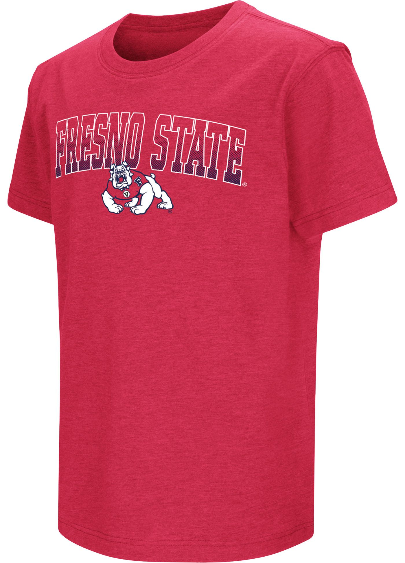 Colosseum Youth Fresno State Bulldogs Cardinal Dual Blend T-Shirt