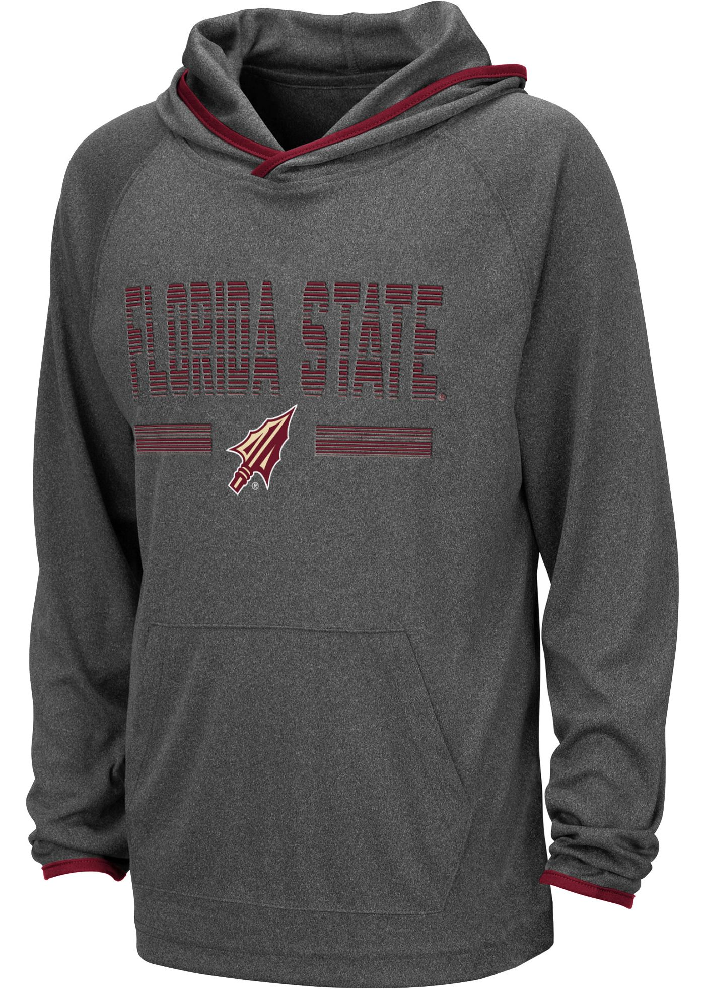 Colosseum Youth Florida State Seminoles Grey Narf! Pullover Hoodie