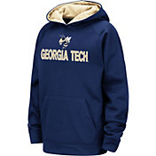 Colosseum Youth Georgia Tech Yellow Jackets Gold Pullover Hoodie