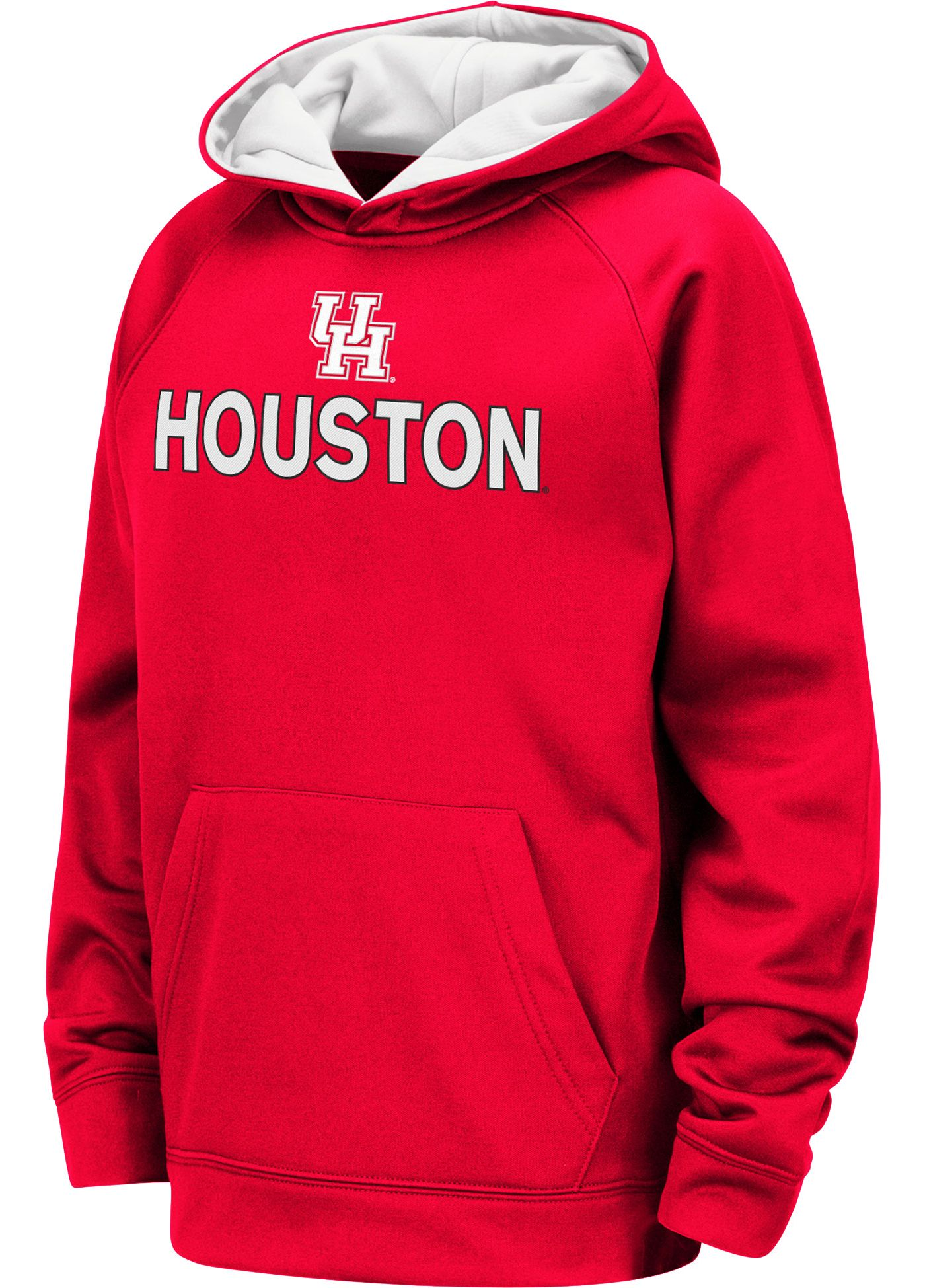 Colosseum Youth Houston Cougars Red Pullover Hoodie