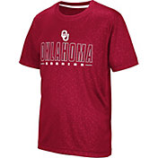 Colosseum Youth Oklahoma Sooners Crimson Geoweb T-Shirt
