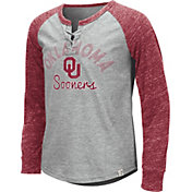 Colosseum Youth Girls' Oklahoma Sooners Grey Rita Long Sleeve T-Shirt