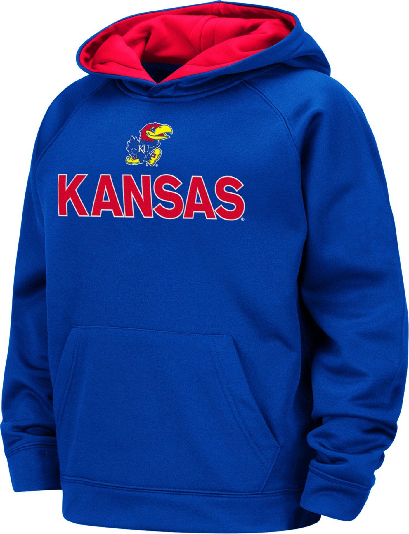 Colosseum Boys' Kansas Jayhawks Blue Pullover Hoodie