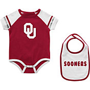 Colosseum Infant Oklahoma Sooners Crimson Warner 2-Piece Onesie Set