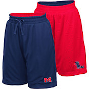 Colosseum Youth Ole Miss Rebels Blue/Red Field Trip Reversible Shorts