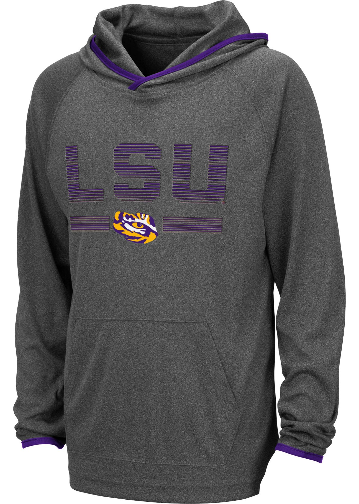 Colosseum Youth LSU Tigers Grey Narf! Pullover Hoodie
