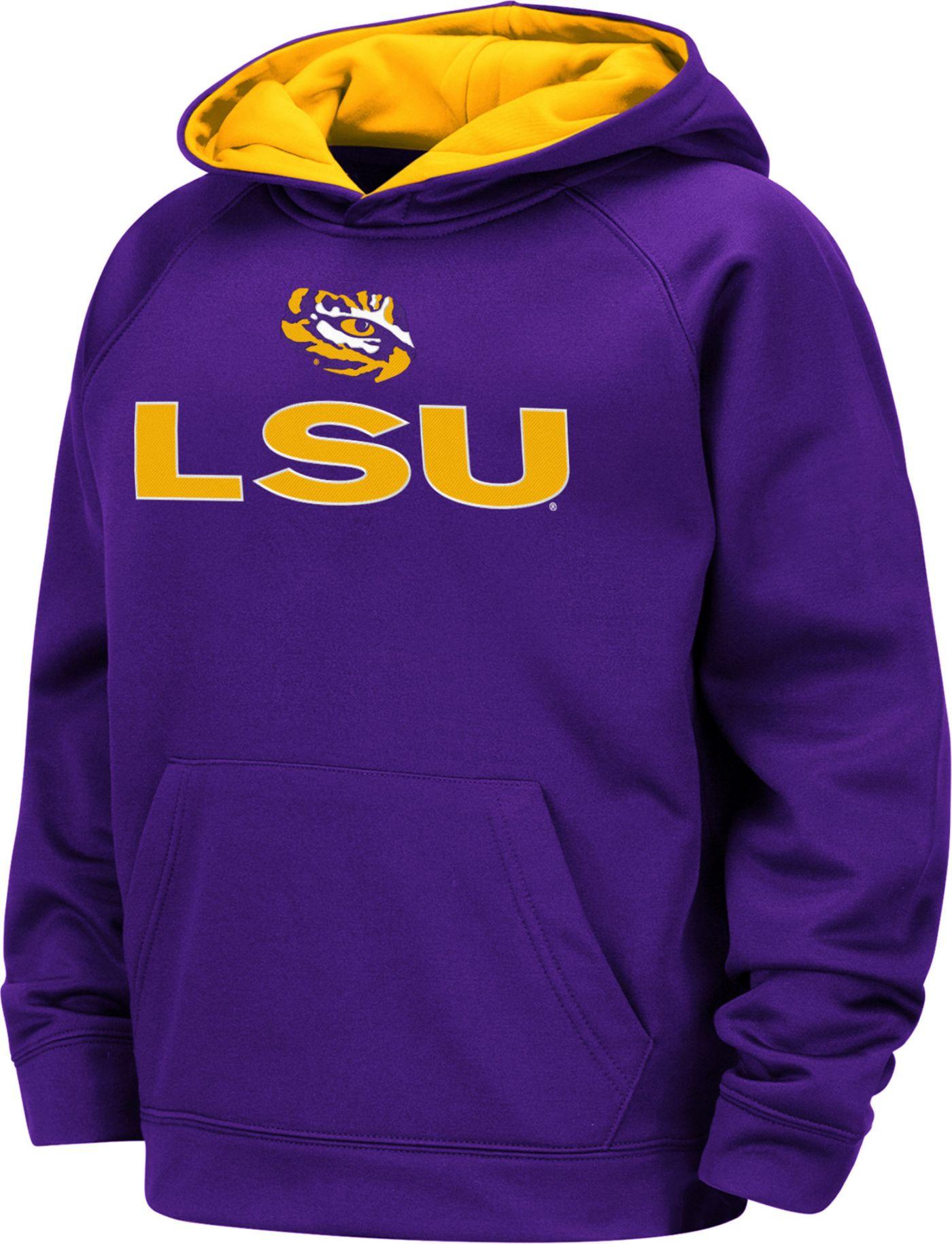 Colosseum Boys' LSU Tigers Purple Pullover Hoodie