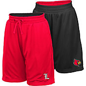 Colosseum Youth Louisville Cardinals Red/Black Field Trip Reversible Shorts