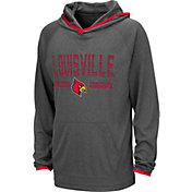 Colosseum Youth Louisville Cardinals Grey Narf! Pullover Hoodie