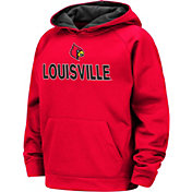 Colosseum Boys' Louisville Cardinals Cardinal Red Pullover Hoodie