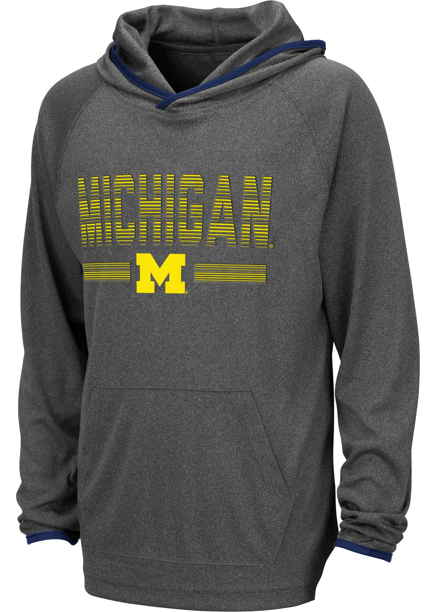 Colosseum Youth Michigan Wolverines Grey Narf! Pullover Hoodie