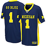 Colosseum Youth Michigan Wolverines Blue Max Power Football Jersey