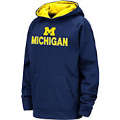 Colosseum Youth Michigan Wolverines Blue Pullover Hoodie