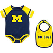 Colosseum Infant Michigan Wolverines Blue Warner 2-Piece Onesie Set